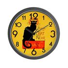 CafePress Chat Noir Black Cat Unique Decorative 10 Wall Clock (341417235)