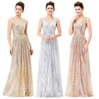 Women Ladies Evening Party Cocktail Formal Prom Ball Gown Maxi Dress Size 2-18