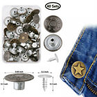 Kyпить 40 Set Metal Denim Jeans Tack Snap Buttons Rivets For Repair Replacement+Box Kit на еВаy.соm