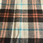 Luxury Wool Blend TWEED Fabric Material - NT16 CHECKED BROWN