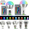 16 Colour LED RGB Bulb E14 E27 B22 GU10 3W Spot Light Bulbs with Remote Control