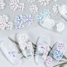 Nail Stickers 5D Embossed Flowers Transfer Decals Nail Art Decoration Design DIY