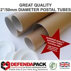 "A4 9.4"" A3 13"" A2 17.5"" A1 25"" A0 34.5"" 2"" WIDE CARDBOARD POSTER POSTAL TUBES"