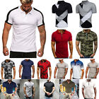 Mens Short Sleeve Golf Polo Shirts Summer Causal Sports T-Shirt Slim Tops Blouse