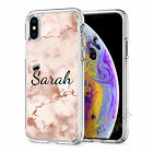 Initials Phone Case Personalised Marble Gel Cover For Apple iphone 11 X XR 020-6
