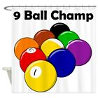 "CafePress 9 Ball Champ Decorative Fabric Shower Curtain (69""x70"") (771583798) $74.99 USD on eBay"