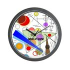CafePress Retired Art Teacher Funky All Over Wall Clock (865919036)