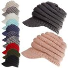 Kyпить Womens Stretch Knit Hat Messy Bun Ponytail Beanie Winter Warm Knitted Hole Cap на еВаy.соm