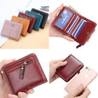 Women Mini Wallet Leather Zipper Coin Small Purse ID Card Holder Pocket Bag image