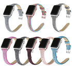 Woven Canvas Fabric Leather Watch Bands for Apple Watch iWatch Series 5 4 3 2 1 image