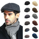 Mens 8 Panel Newsboy Hat/Flat Cap Beret Cabbie Peaky Blinders Baker Boy Golf Hat