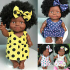 Cute Baby Movable Joint African Doll Toy Black Infant Doll Best Gift 3-6 Years