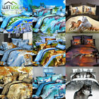 3D Quilt Duvet Covers HD Printed Animal Pillowcase Bedding Sets Twin/Queen Size image