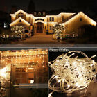 Warm White 96-960LED Christmas String Fairy Outdoor Icicle Curtain Hanging Light