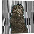 ARTCANVAS Black Russian Terrier Dog Breed Canvas Art Print
