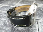 23mm VICTORINOX SWISS ARMY LEATHER STRAP Band Infantry Vintage Chronograph BK R image