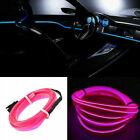 3/4/5M Car Atmosphere Glow EL Wire LED Strip Light Tube Soft Rope Cigarette UK