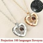I LOVE YOU in 100 Languages Projection Pendant Necklace For Memory of  Lover US