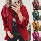 Fashion Womens Jacket Solid Button Long Sleeve Clothes Casual Warm Coat Outwear