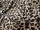 Double Sided Supersoft Cuddlesoft Fleece Fabric Material - BROWN LEOPARD
