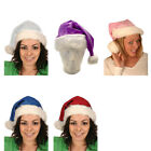 SANTA CHRISTMAS PLUSH HAT WITH WHITE FUR TRIM 45CM - CHOOSE YOUR COLOUR