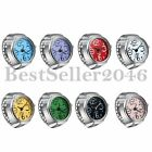 Men Women Creative Elastic Round Ring Watch Stainless Steel Finger Quartz Watch image