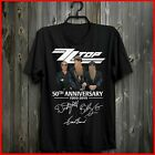 Zz Top T-Shirt 50th Anniversary 1969 2019 Signature Black TShirt Full Size S-6XL image