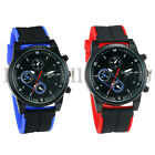 Mens Sports Quartz Watches Silicone Band Military Analog Outdoor Wrist Watch image