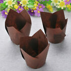 50x Paper Cup Cupcake Wrapper Liners Muffin Cup Tulip Case Cake Paper Baking NEW
