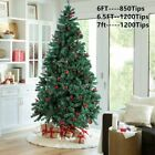 6'/6.5'/7' Feet Unlit Artificial Christmas Pine Tree with Sturdy Mental legs USA