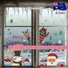 Removable Christmas Window Decals Wall Stickers Adhesive Home Decoration Au