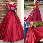 Women's Long Mermaid Formal Dresses Lace Evening Party Cocktail Prom Gowns Dress