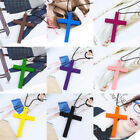 Wood Cross All Match Fashion Artistic Pendant Necklace For Women Jewelry Gifts
