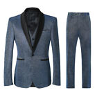 Fashion Men Suits 3 Piece Groom Tuxedos Wedding Prom Party Dinner Suit Custom