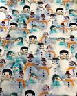 Luxury Digital Printed Cotton Jersey Fabric Material - SNOWMAN