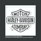 Harley Davidson Company- Reusable, Flexible Plastic Stencil $13.6 USD on eBay