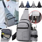 Men's Light Business Chest Bag Simple Pouch Handbag Waist Pack Shoulder Bags