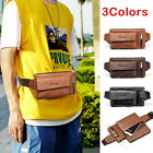 Man's Leather Waist Pack Shoulder Bags Pack Belt Bum Bag Wallet Pouch Bags GIFT