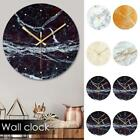 Creative Nordic Abstract Wall Clock Marbled Glass Wall Clock Home Office Decor