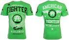 American Fighter Short Sleeve T-Shirt Mens FLY BY Neon Green S-3XL $40 NWT