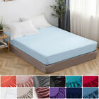 16'' Extra Deep Bed Sheet Fitted Sheet Bottom Sheet Elastic Polyester Queen Size image