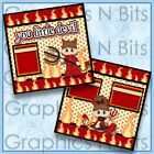 YOU LITTLE DEVIL Printed Premade Scrapbook Pages