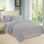 Flat, Fitted, Button Closure Duvet Cover, Pillowcases 800 TC Light Grey Stripe image