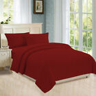 Flat, Fitted, Button Closure Duvet Cover, Pillowcases 800 TC Burgundy Stripe image