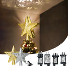 3D LED Xmas Tree Topper Star Light Projection With Snowflake Lamp Party Decor 02