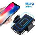Qi Wireless Charger Car Charging Phone Mount Holder For Samsung Note 9 S8 iPhone