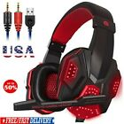 3.5mm Gaming Headset Mic LED Headphones Surround for PC Laptop PS4 Slim Xbox One