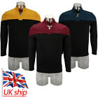 New Star Trek Captain Picard Startfleet Uniform Cosplay Red Blue Gold Top Shirts on eBay