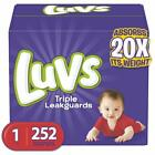 Luvs Ultra Leakguards Disposable Baby Diapers / Size 1 - 6, 124 - 252 count
