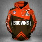 Cleveland Browns NFL Football Team Solid Color Pullover Nice Gift 3D Hoodie $49.99 USD on eBay